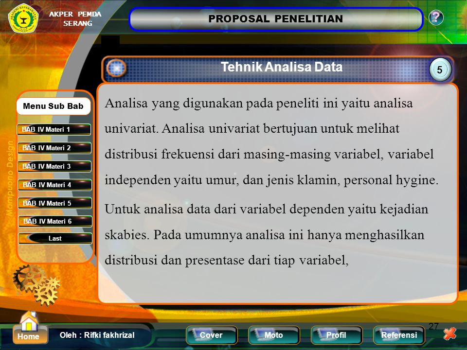 Tehnik Analisa Data 5.