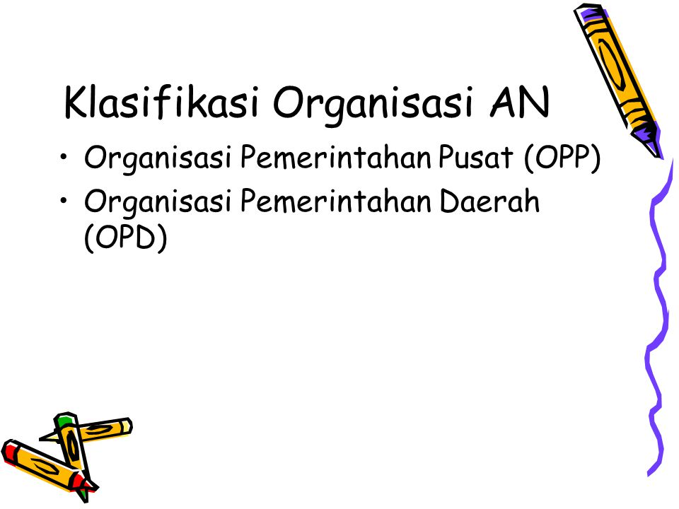 Klasifikasi Organisasi AN