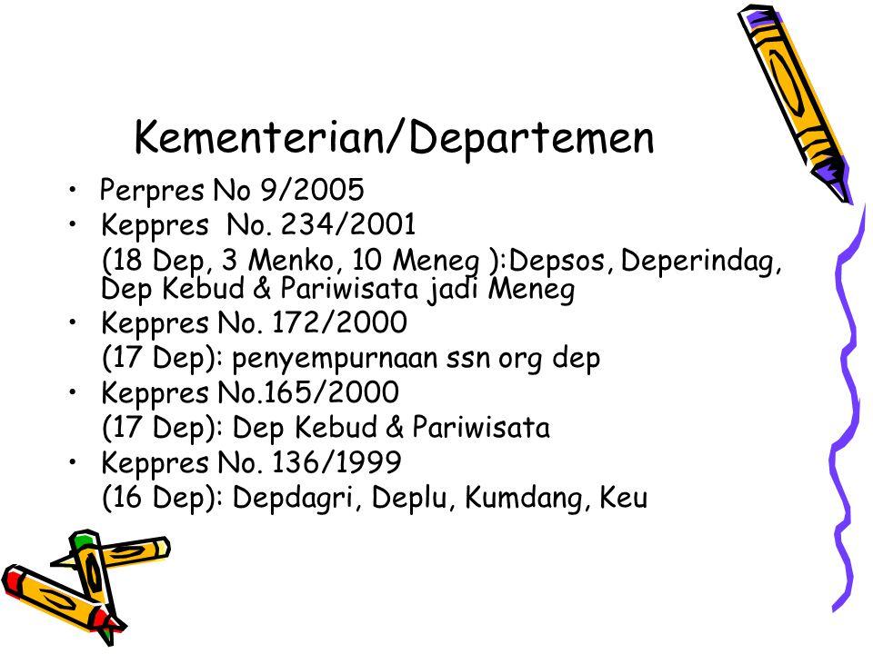 Kementerian/Departemen