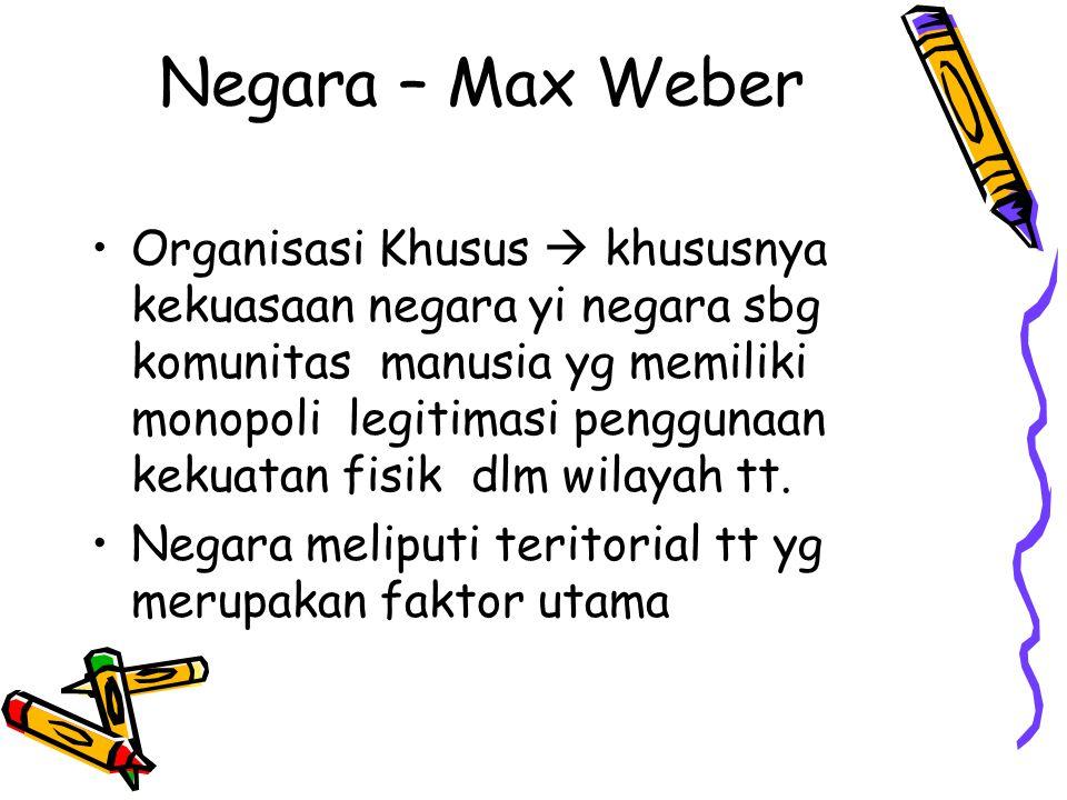 Negara – Max Weber