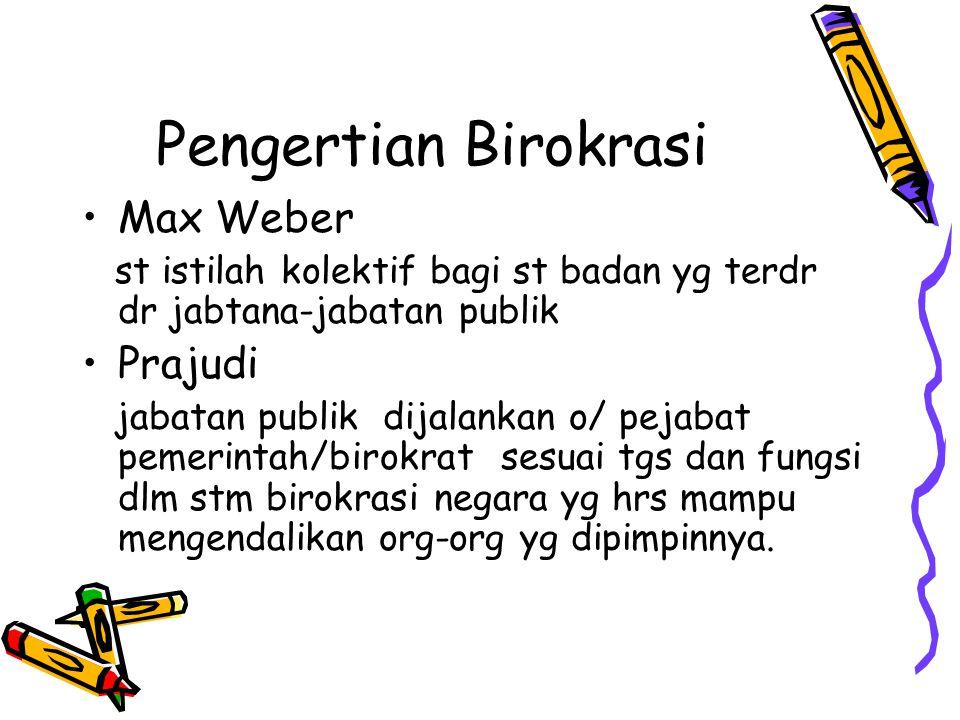 Pengertian Birokrasi Max Weber Prajudi