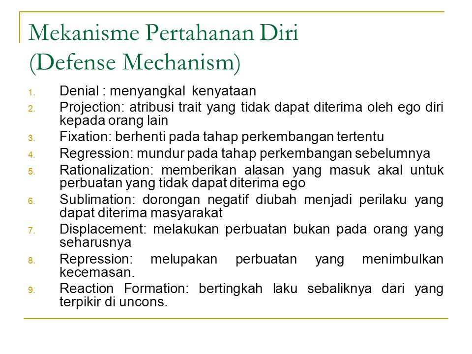 Mekanisme Pertahanan Diri (Defense Mechanism)