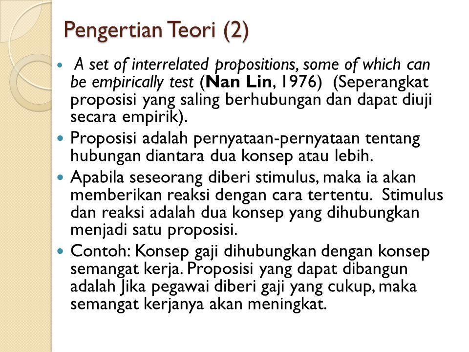 Pengertian Teori (2)
