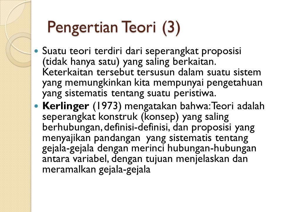 Pengertian Teori (3)