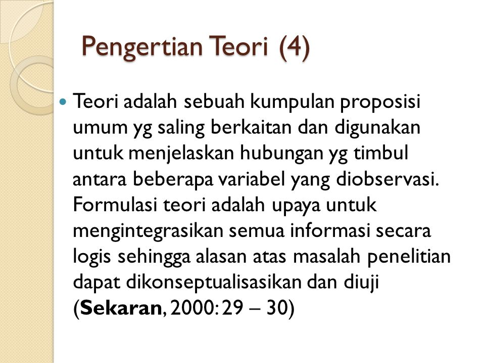 Pengertian Teori (4)
