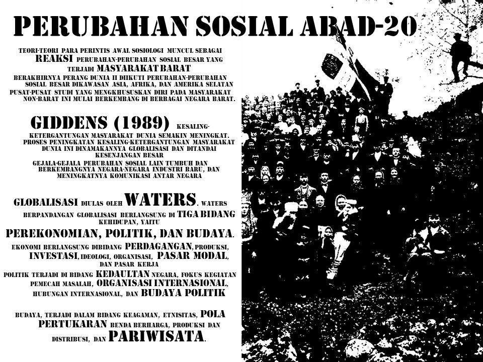 PERUBAHAN SOSIAL ABAD-20