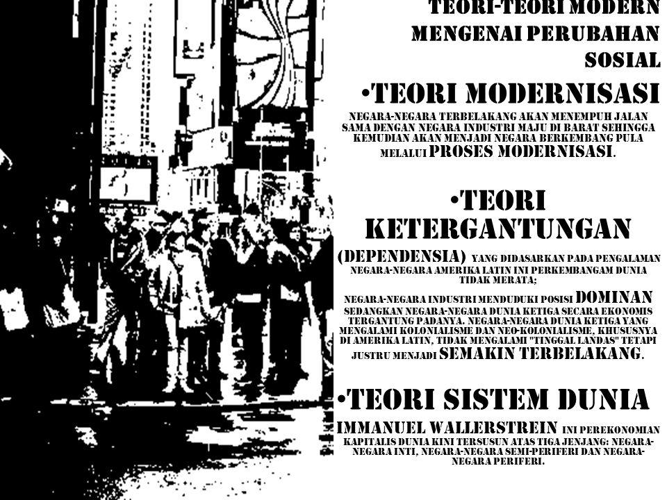 TEORI-TEORI MODERN MENGENAI PERUBAHAN SOSIAL