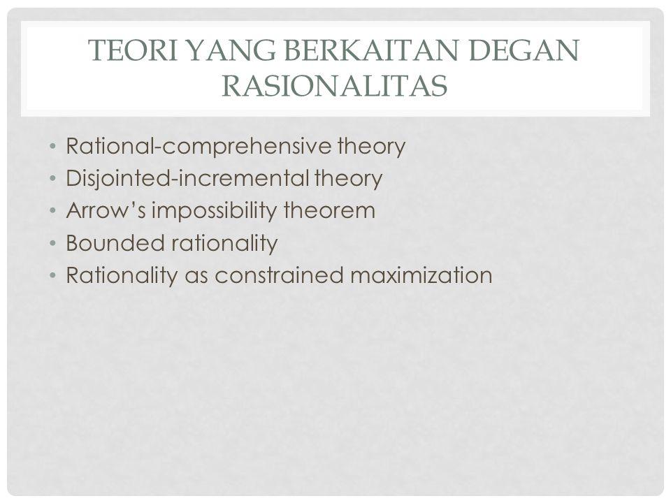 Teori yang berkaitan degan rasionalitas