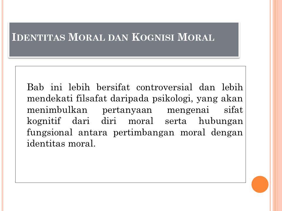 Identitas Moral dan Kognisi Moral