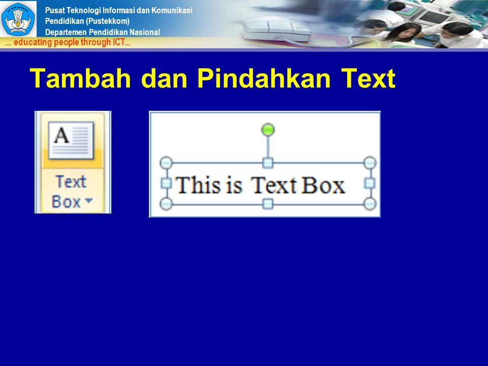 Tambah dan Pindahkan Text