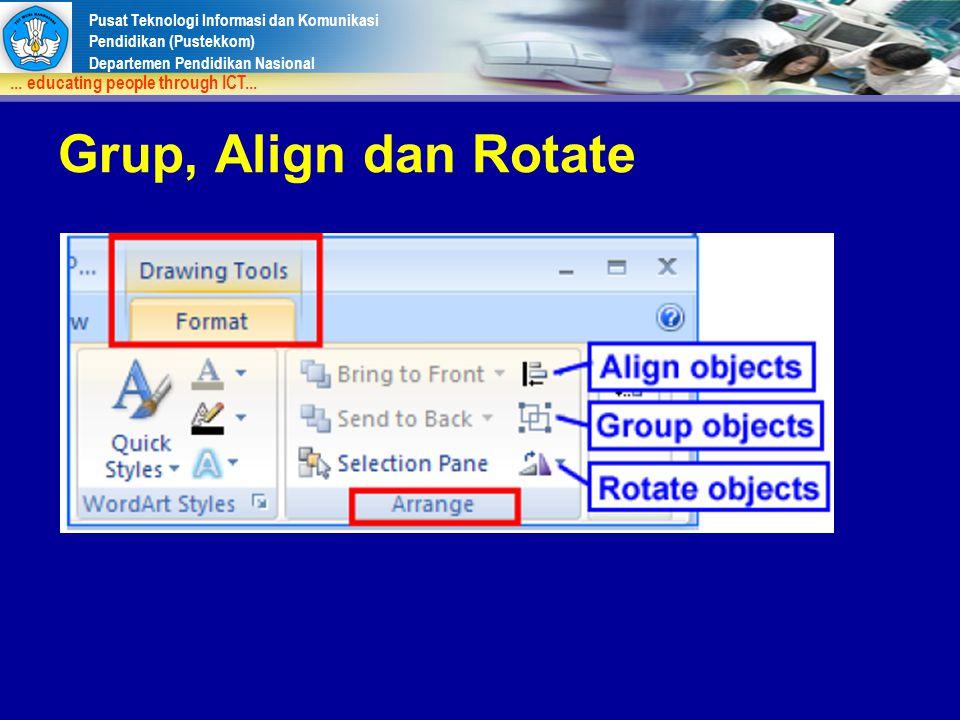 Grup, Align dan Rotate