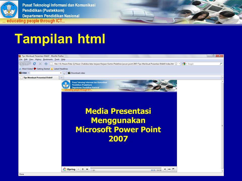 Tampilan html