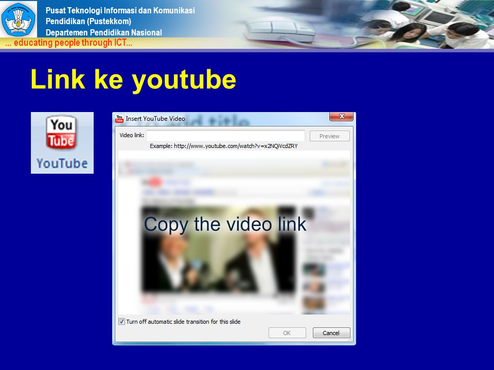 Link ke youtube