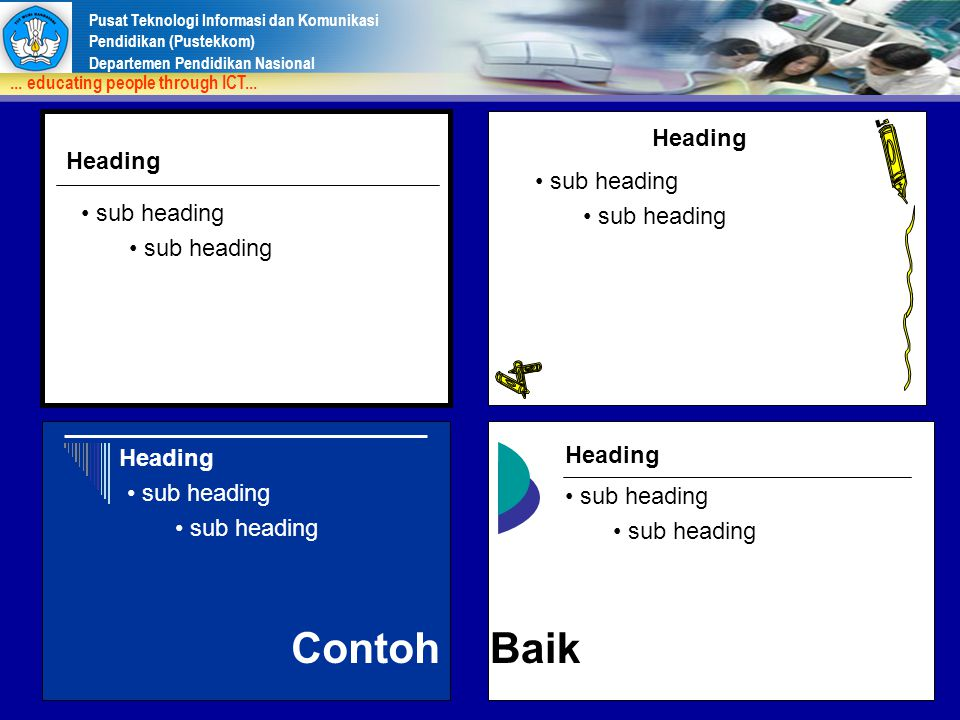Contoh Baik Heading Heading sub heading sub heading Heading Heading