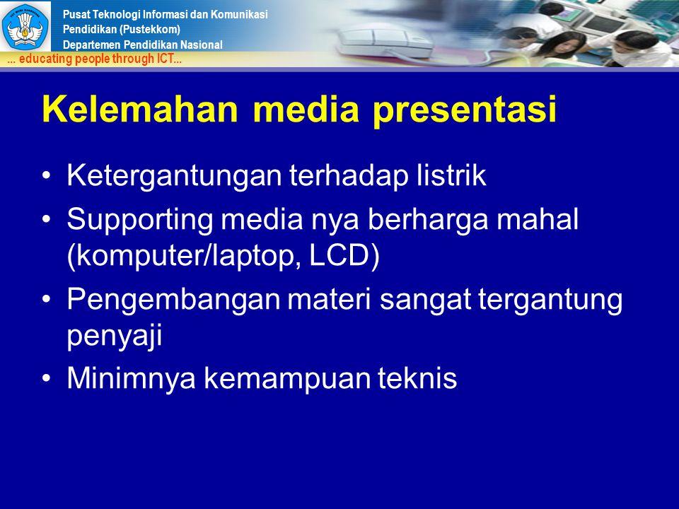 Kelemahan media presentasi