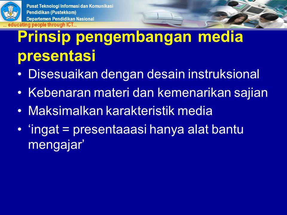 Prinsip pengembangan media presentasi