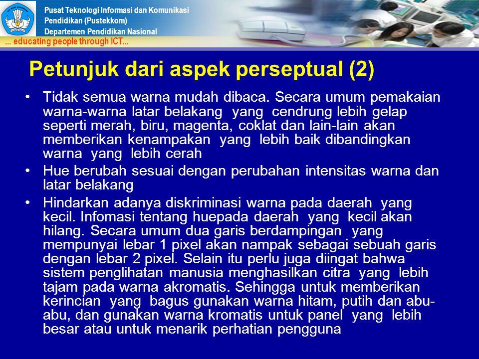 Petunjuk dari aspek perseptual (2)