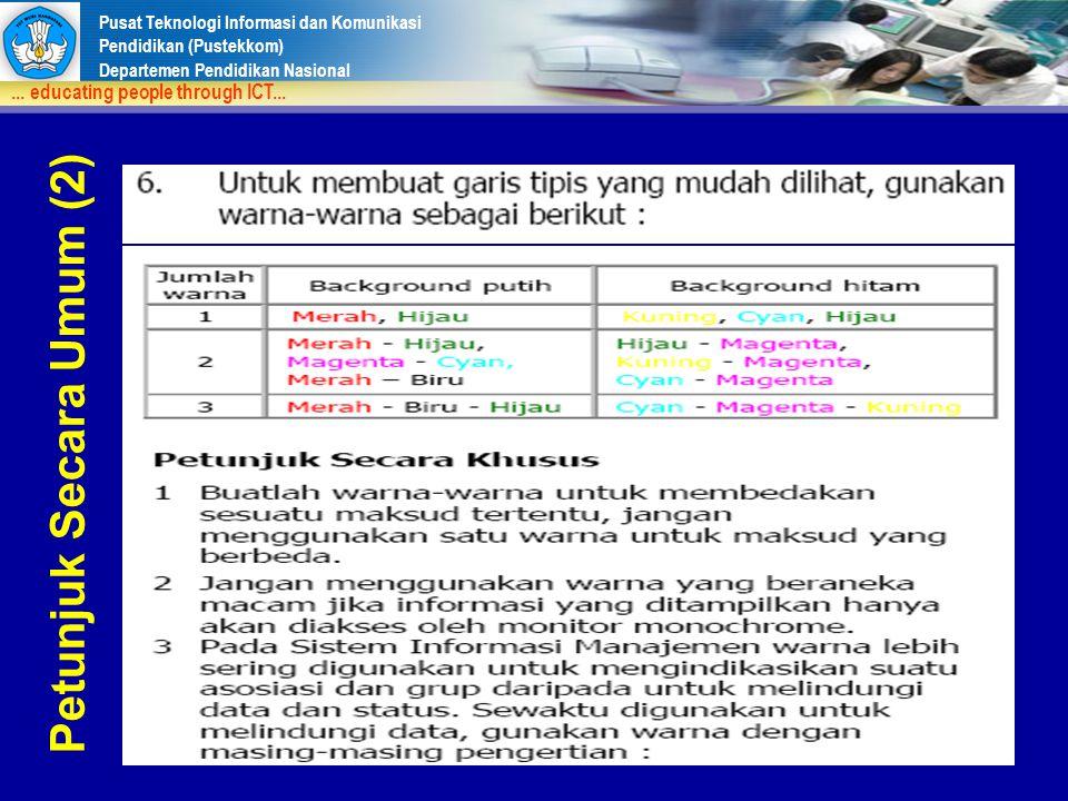 Petunjuk Secara Umum (2)