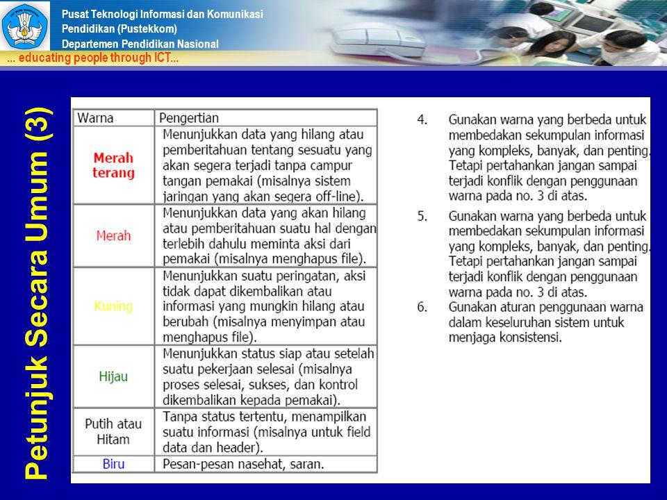 Petunjuk Secara Umum (3)