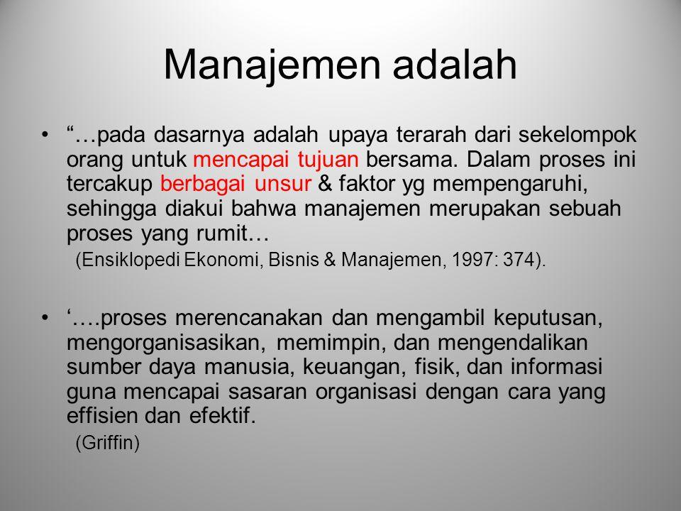 Manajemen adalah
