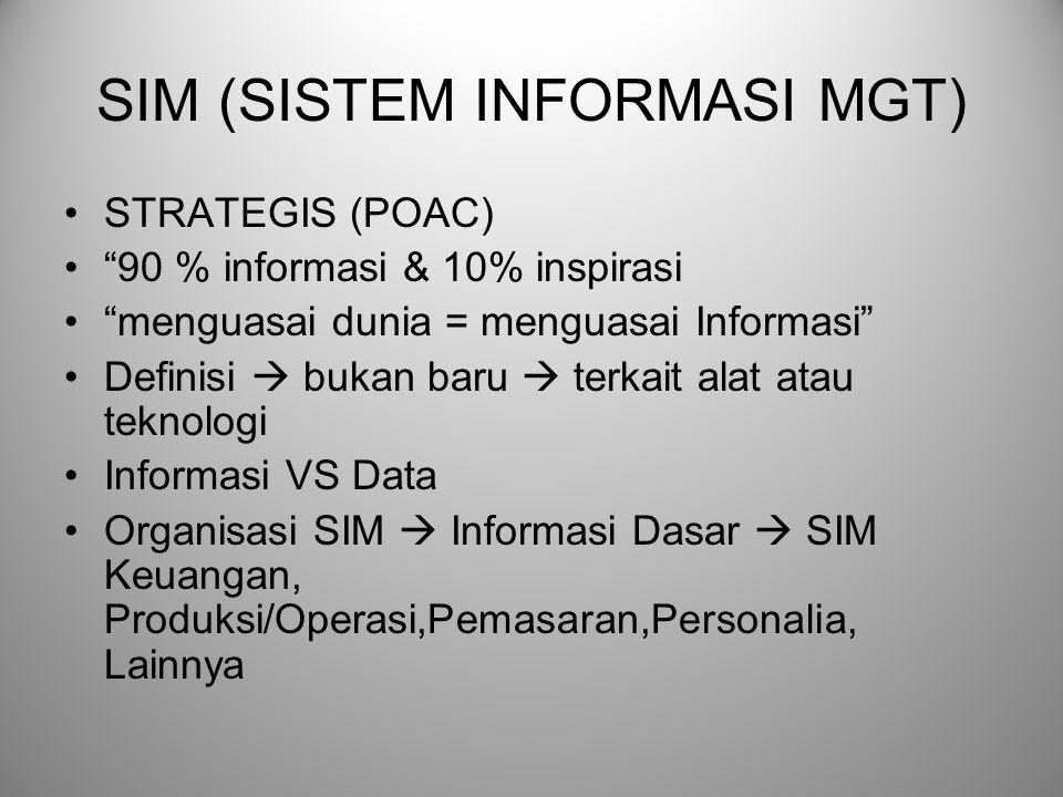SIM (SISTEM INFORMASI MGT)