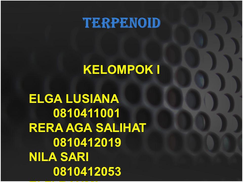 TERPENOID KELOMPOK I ELGA LUSIANA 0810411001