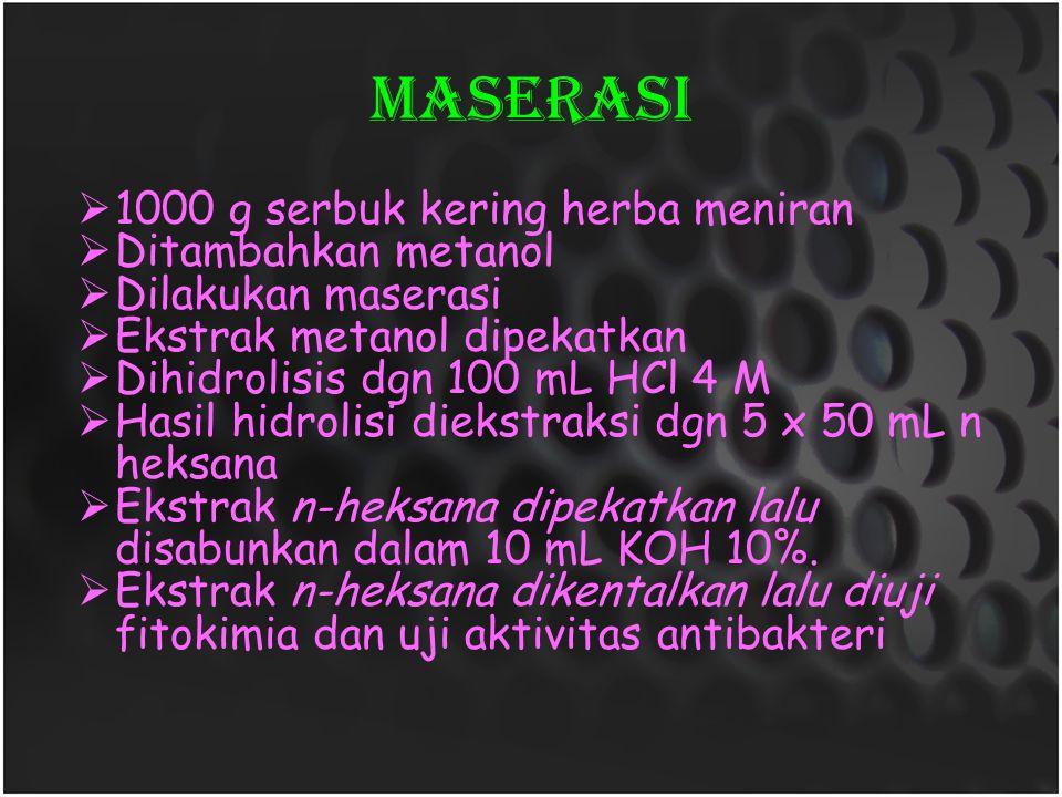 MaseraSI 1000 g serbuk kering herba meniran Ditambahkan metanol