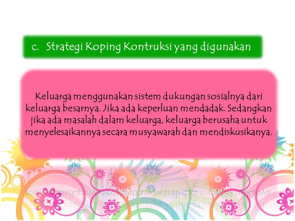 Strategi Koping Kontruksi yang digunakan