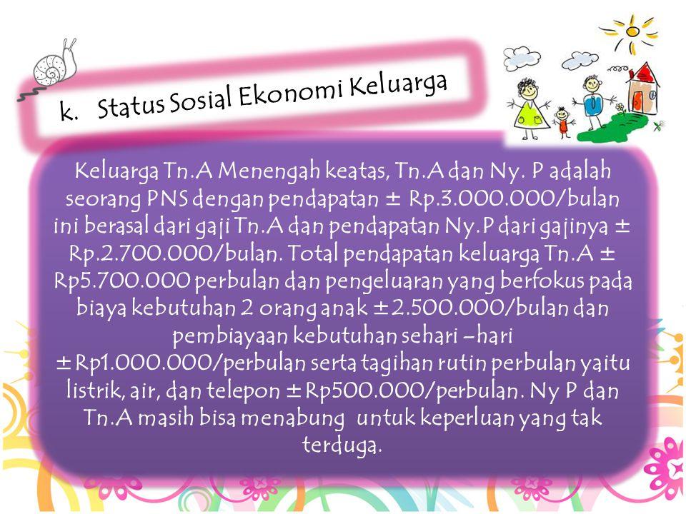 Status Sosial Ekonomi Keluarga