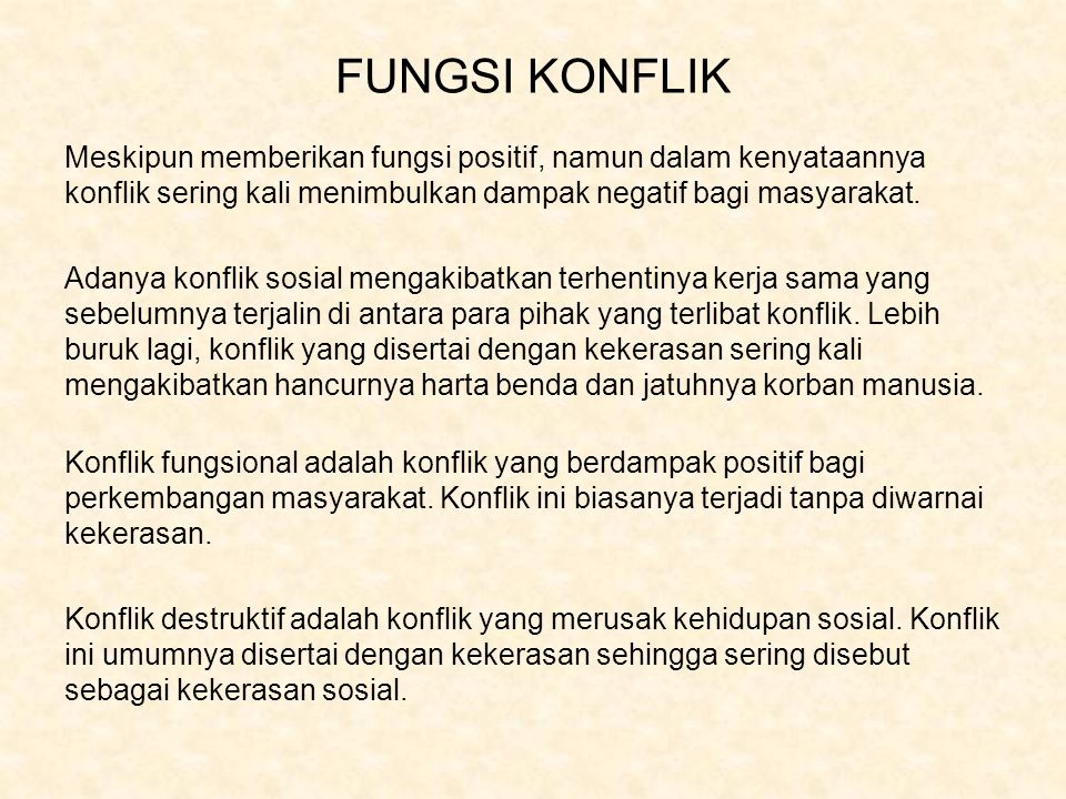FUNGSI KONFLIK