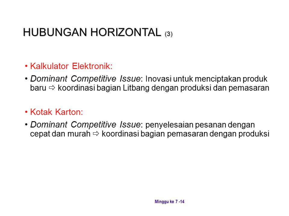 HUBUNGAN HORIZONTAL (3)