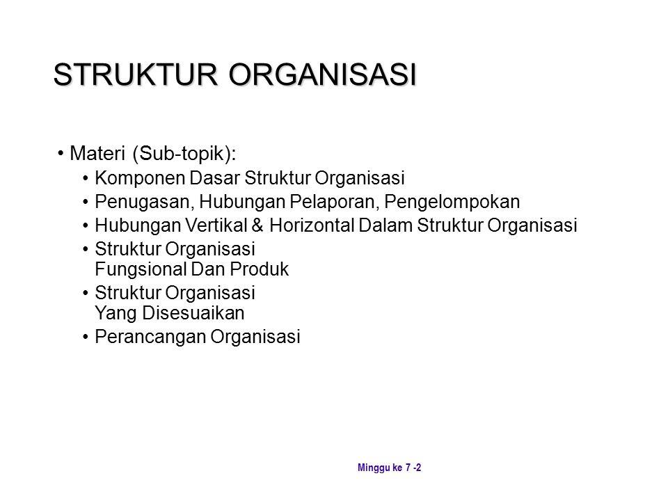 STRUKTUR ORGANISASI Materi (Sub-topik):