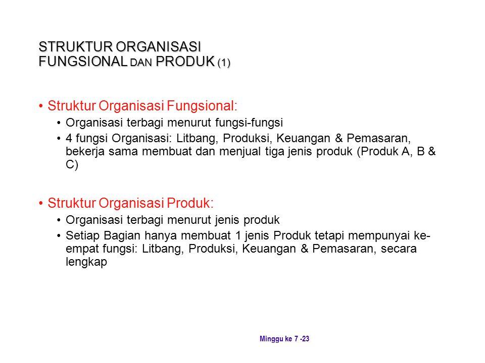 STRUKTUR ORGANISASI FUNGSIONAL DAN PRODUK (1)