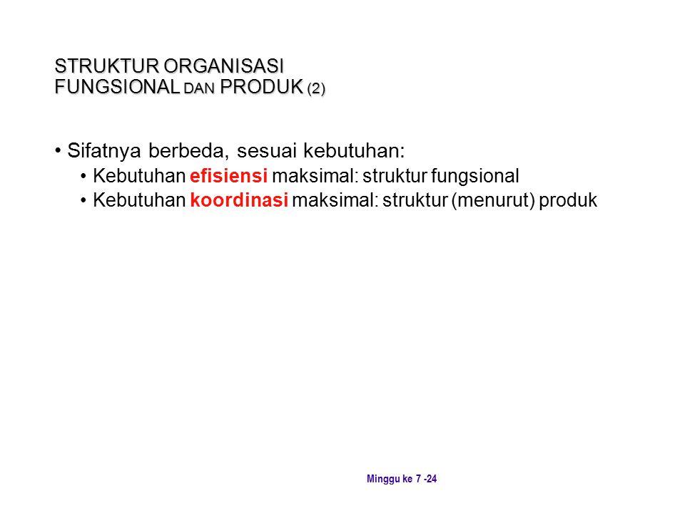 STRUKTUR ORGANISASI FUNGSIONAL DAN PRODUK (2)