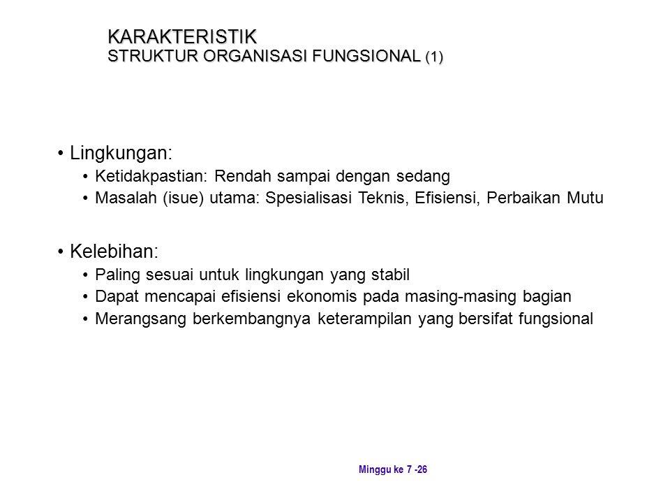KARAKTERISTIK STRUKTUR ORGANISASI FUNGSIONAL (1)
