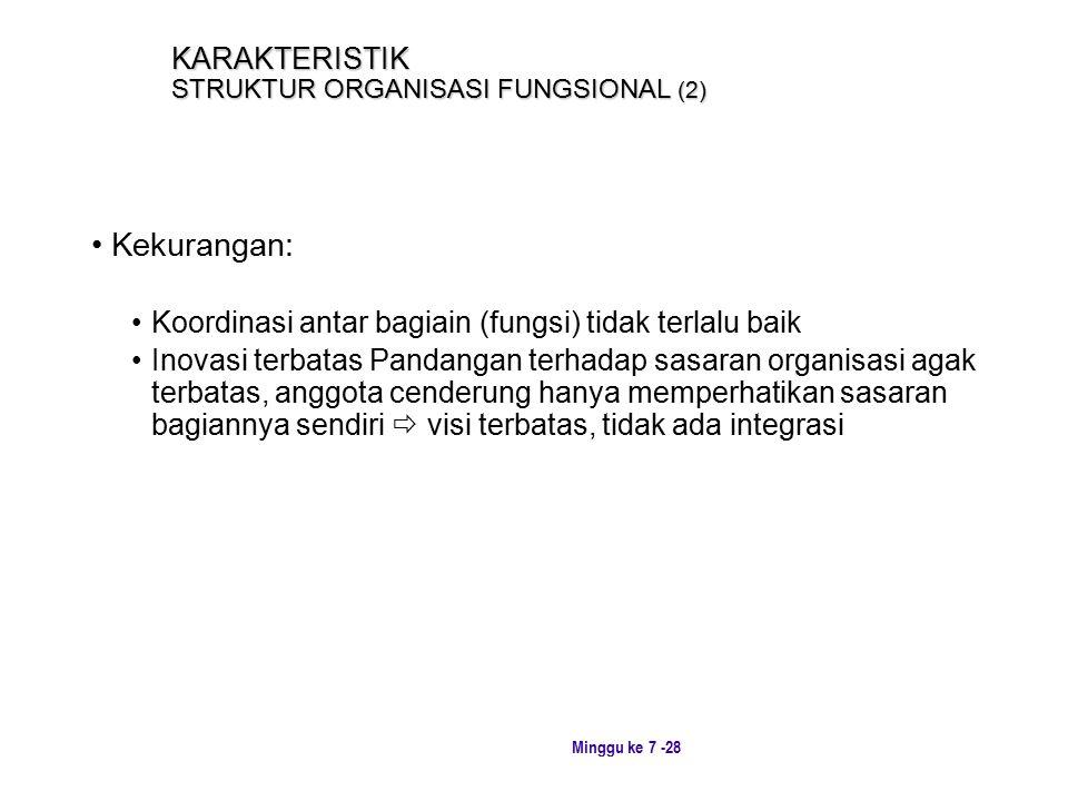 KARAKTERISTIK STRUKTUR ORGANISASI FUNGSIONAL (2)