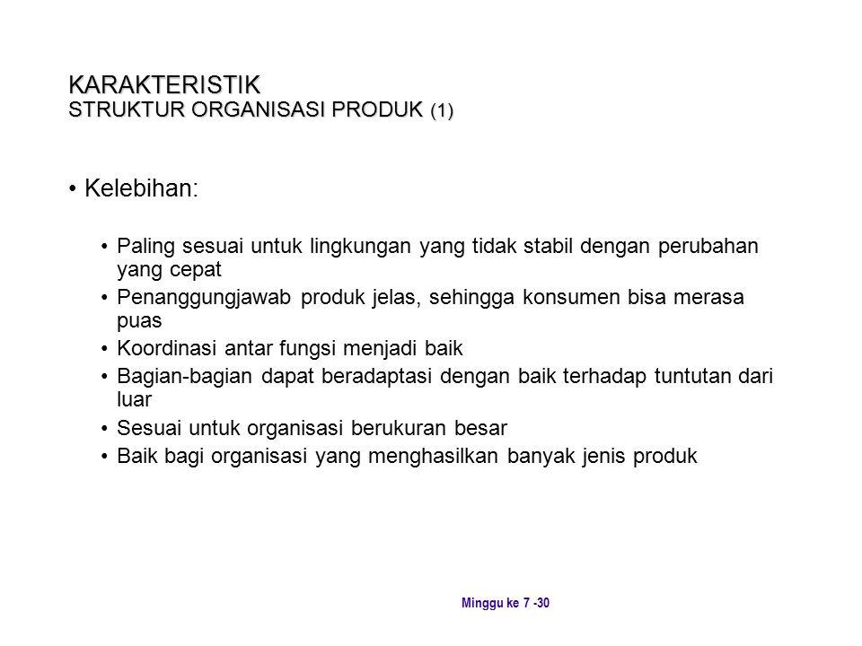 KARAKTERISTIK STRUKTUR ORGANISASI PRODUK (1)