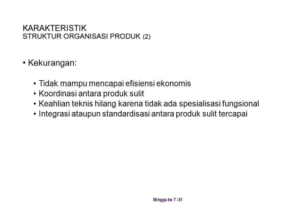 KARAKTERISTIK STRUKTUR ORGANISASI PRODUK (2)