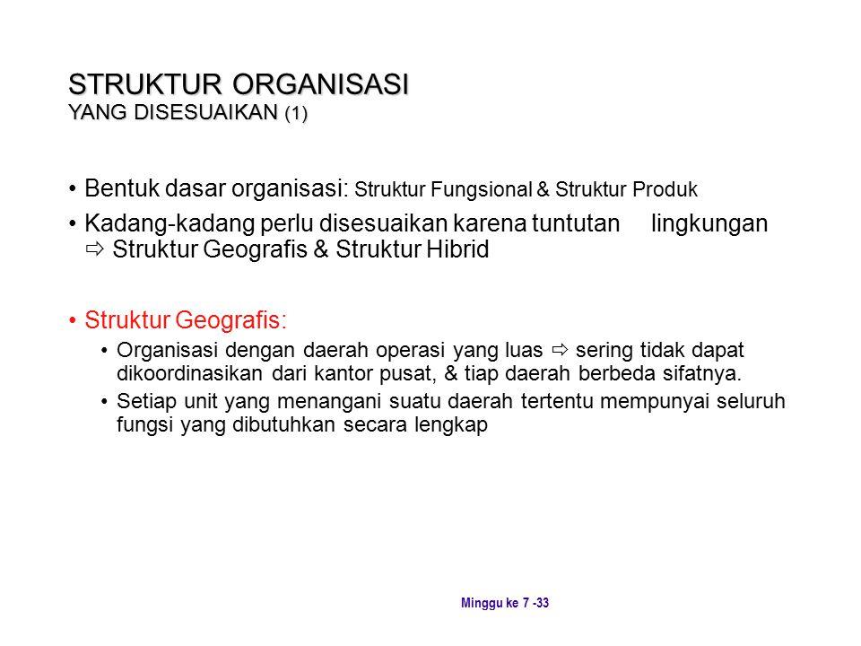 STRUKTUR ORGANISASI YANG DISESUAIKAN (1)