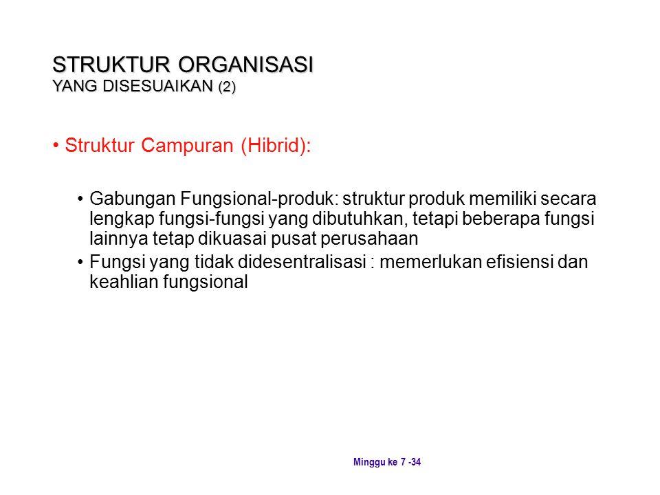 STRUKTUR ORGANISASI YANG DISESUAIKAN (2)