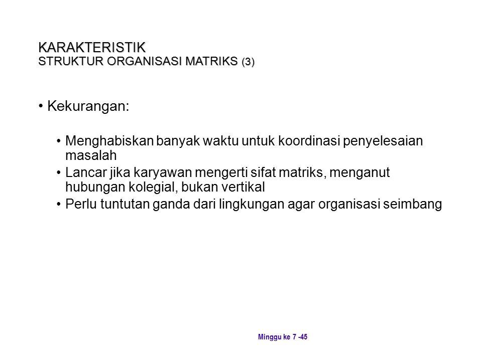 KARAKTERISTIK STRUKTUR ORGANISASI MATRIKS (3)
