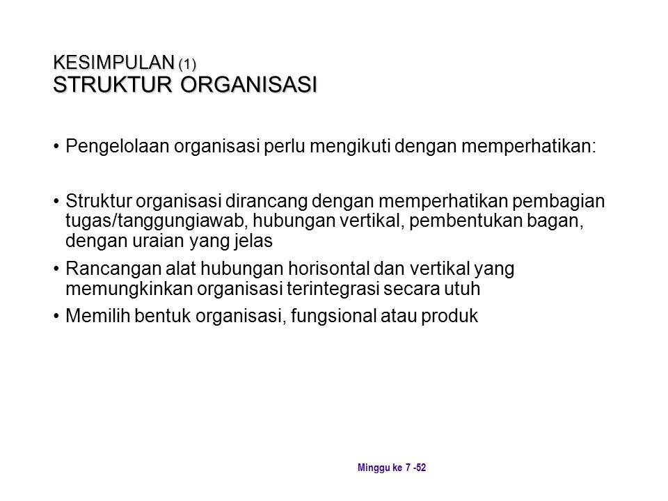 KESIMPULAN (1) STRUKTUR ORGANISASI