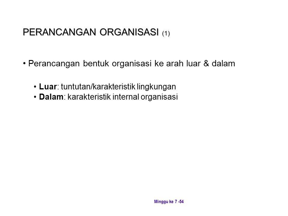 PERANCANGAN ORGANISASI (1)