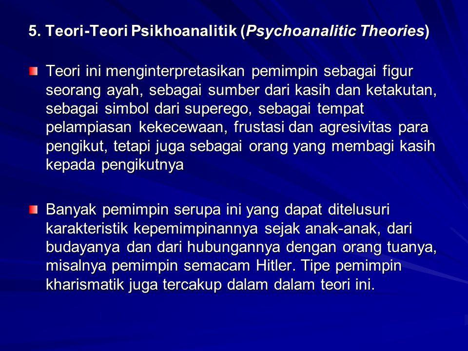5. Teori-Teori Psikhoanalitik (Psychoanalitic Theories)