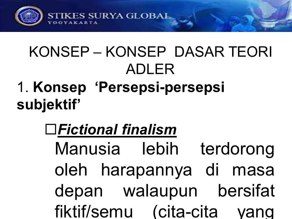 1. Konsep 'Persepsi-persepsi subjektif'