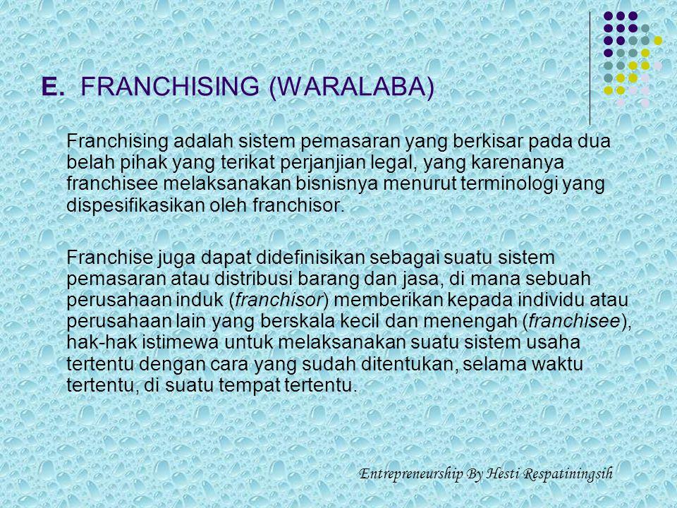 E. FRANCHISING (WARALABA)