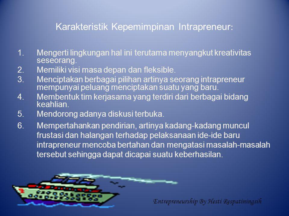 Karakteristik Kepemimpinan Intrapreneur: