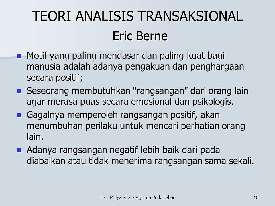TEORI ANALISIS TRANSAKSIONAL Eric Berne