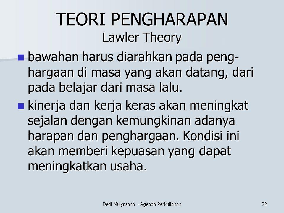 TEORI PENGHARAPAN Lawler Theory