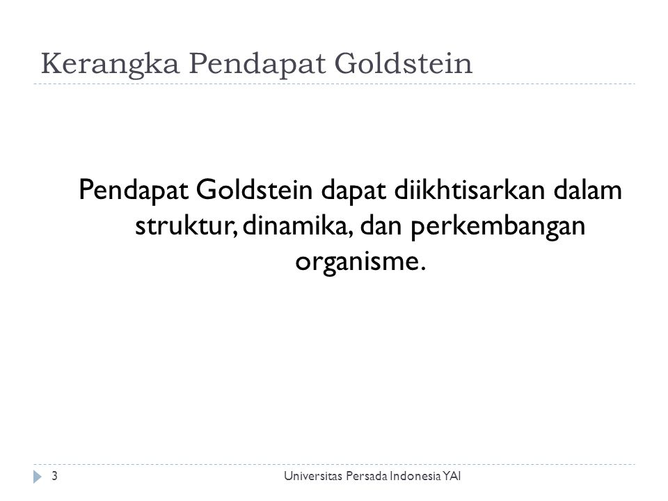 Kerangka Pendapat Goldstein